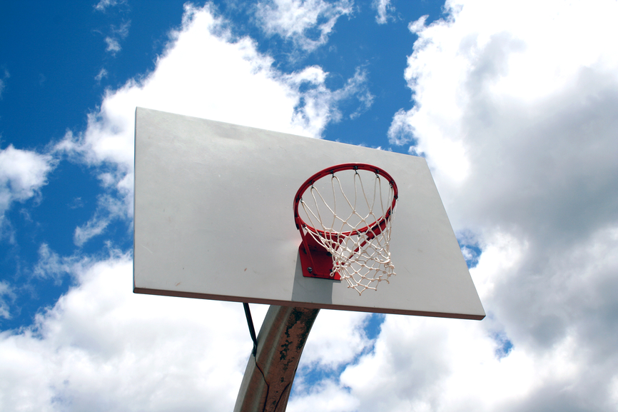 Basketball hoop against sky