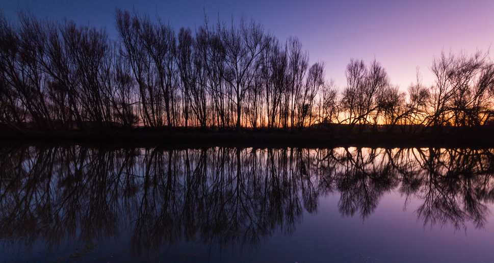 Winter Water Reflection