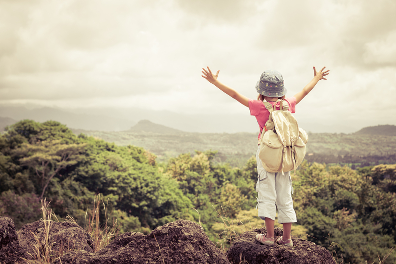 http://www.dreamstime.com/royalty-free-stock-image-little-girl-backpack-standing-mountain-top-day-time-image45156926